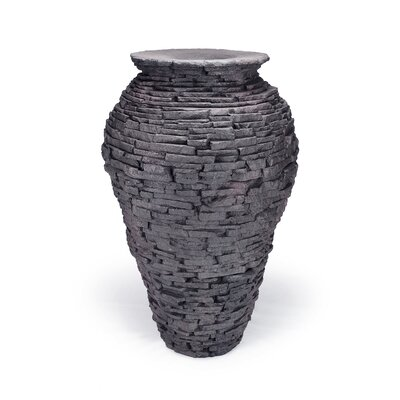 Large Stacked Slate Urn by Aquascape
