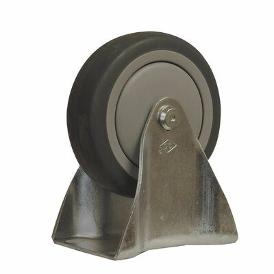TPR Solid Wheel Fixed Caster by Snap-Loc