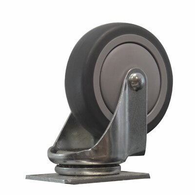 TPR Solid Wheel Swivel Caster by Snap-Loc