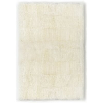 Straight Edge Ivory Area Rug by Fibre by Auskin