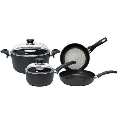 Rialto Aluminum Non-Stick 6-Piece Cookware Set with Thermopoint Fry Pans by Ballarini