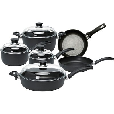 Rialto 10-Piece Aluminum Non-Stick Cookware Set with Thermopoint Fry Pans by Ballarini