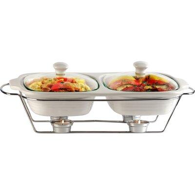 Buffet 2 Qt. Double Casserole by Circle Glass