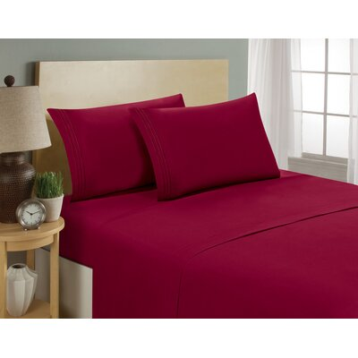 1800 Platinum 4 Piece Microfiber Bed Sheet Set by Luxe Home Collections