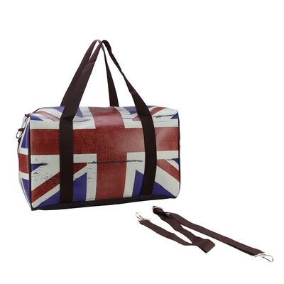 British Flag Travel Bag with Handles and Crossbody Strap by NorthlightSeasonal