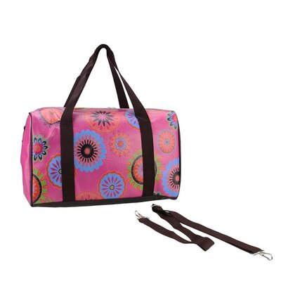 Floral Travel Bag with Handles and Crossbody Strap by NorthlightSeasonal
