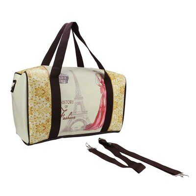 Vintage Eiffel Tower Travel Bag with Handles and Crossbody Strap by NorthlightSeasonal