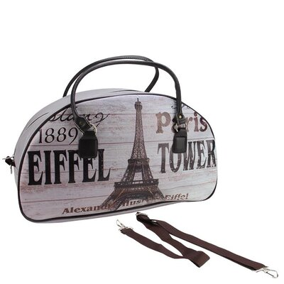 Vintage Paris and Eiffel Tower Travel Bag with Handles and Shoulder Strap by NorthlightSeasonal