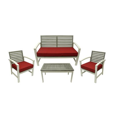 4 Piece Acacia Wood Outdoor Furniture Set by NorthlightSeasonal