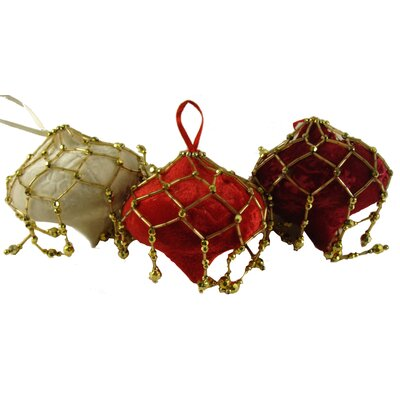 Fuzzy Beaded Onion Christmas Ornament by NorthlightSeasonal