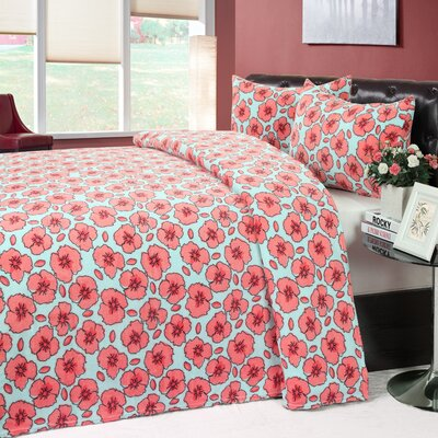 3 Piece Bedding Set by Universal Home Fashions