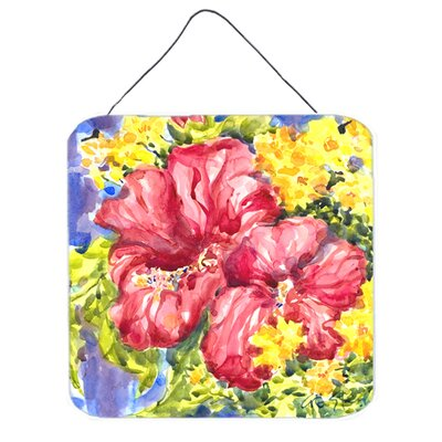 Flower Hibiscus Aluminum Hanging Painting Print Plaque by Caroline's Treasures