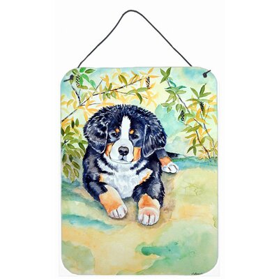 Bernese Mountain Dog Puppy Aluminum Hanging Painting Print Plaque by Caroline's Treasures