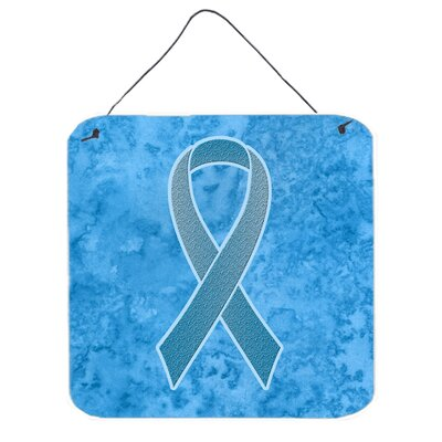 Blue Ribbon For Prostate Cancer Awareness Hanging Graphic Art Plaque by Caroline's Treasures