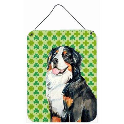 Bernese Mountain Dog Shamrock Aluminum Hanging Painting Print Plaque by Caroline's Treasures