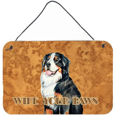 Bernese Mountain Dog Wipe Your Paws Aluminum Hanging Painting Print Plaque by Caroline's Treasures