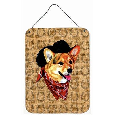 Corgi Dog Country Lucky Horseshoe Aluminum Hanging Painting Print Plaque by Caroline's Treasures