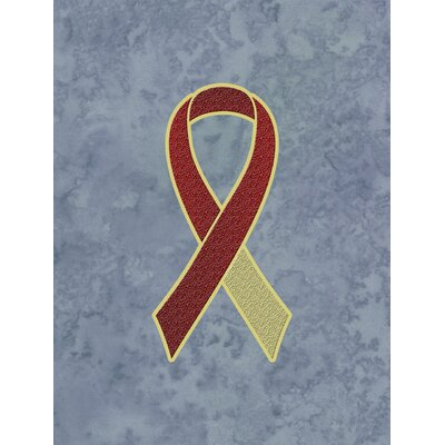 Ribbon for Head and Neck Cancer Awareness 2-Sided Garden Flag by Caroline's Treasures