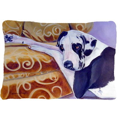 Harlequin Natural Great Dane Indoor/Outdoor Throw Pillow by Caroline's Treasures