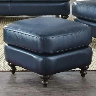 Thomas Leather Ottoman by Darby Home Co