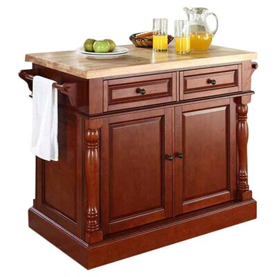 Remus Kitchen Island with Butcher Block Top Product Photo