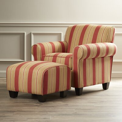 Sylvester Chair and Ottoman by Darby Home Co
