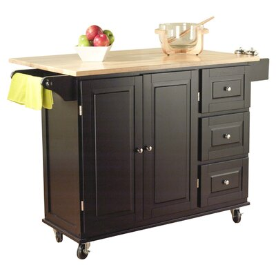 Philip Kitchen Island with Wood Top Product Photo