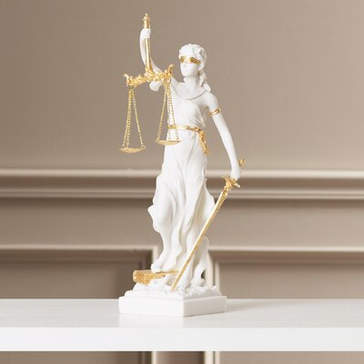 Marcella Bonded Marble Themis Blind Justice Figurine by Darby Home Co