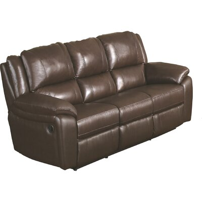 Darby Home Co DBHC5858 Hickox Leather Reclining Sofa