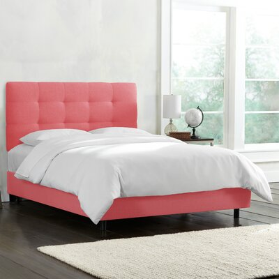 Linen Tufted Bed by Alcott Hill