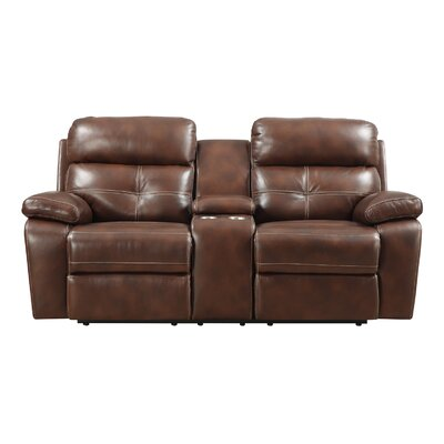 Power Motion Console Reclining Loveseat by Alcott Hill