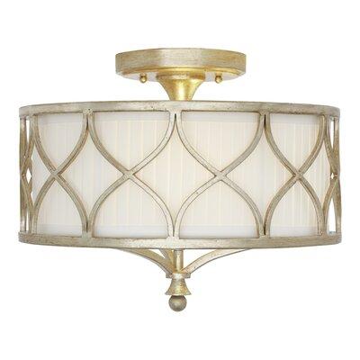 Tiffany 3-Light Semi-Flush Mount Product Photo
