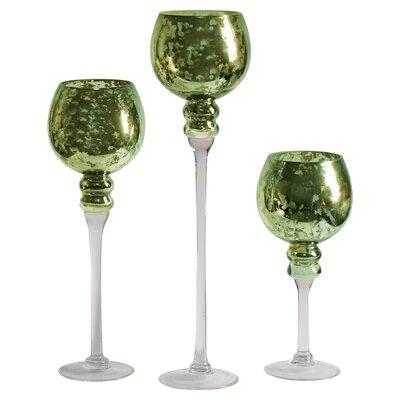 Hawkins 3 Piece Glass Stem Vase Set by Alcott Hill