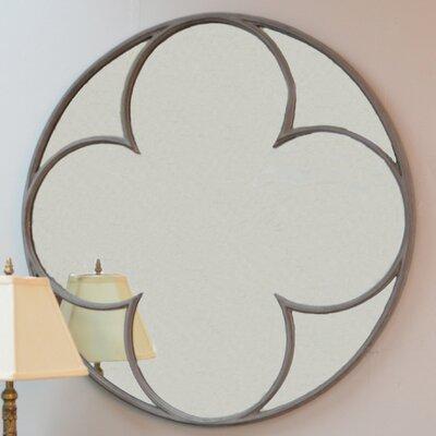 Brayden Studio Cole Round Quatrefoil Mirror