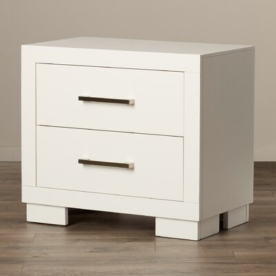 Laclubar 2 Drawer Nightstand by Wade Logan