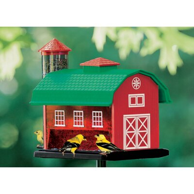 Heritage Farms Red Barn Combo Feeder