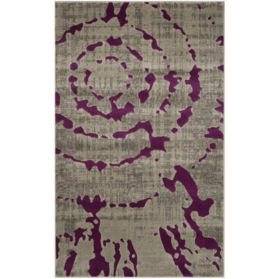Porcello Light Gray/Purple Area Rug by Langley Street
