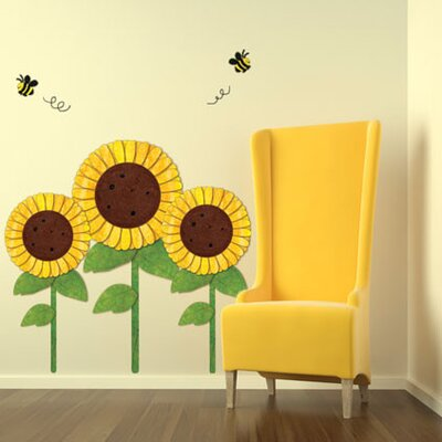 Sunflowers and Bees Wall Stickers by My Wonderful Walls