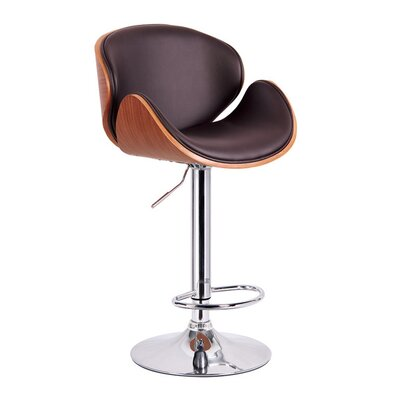Adjustable Height Swivel Bar Stool with Cushion by !nspire