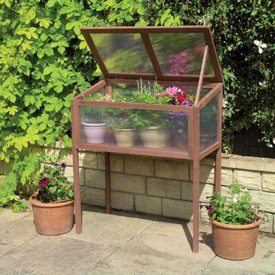 Raised Wooden 3 Ft. x 1.8 Ft. Cold Frame Greenhouse by Gardman