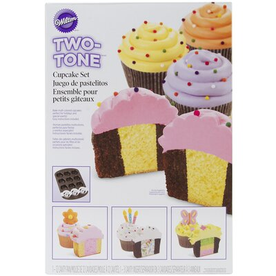 2 Piece Two Tone Cupcake Baking Set by Wilton