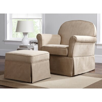 Swivel Glider & Ottoman by Baby Relax