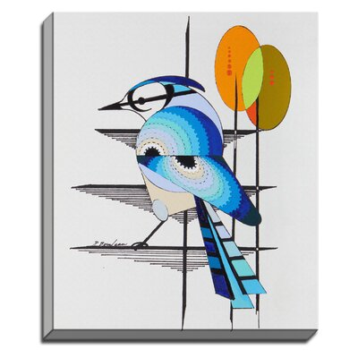 Blue Suede by Dominic Bourbeau Graphic Art on Canvas by Bashian Home