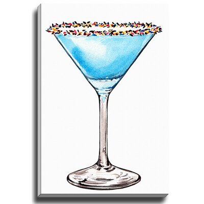 Martini Sprinkles by Lady Gatsby Painting Print on Wrapped Canvas by Bashian Home
