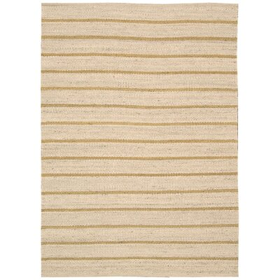 Paradise Garden Wheat Striped Rug by Nourison