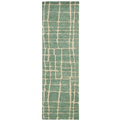 Tahoe Modern Turquoise/Green Rug by Nourison