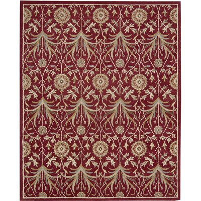 Grand Mahal Hand-Tufted Red Area Rug by Nourison