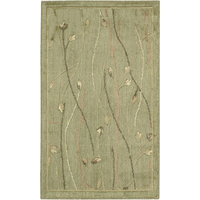 Machine Woven Green Area Rug by Nourison