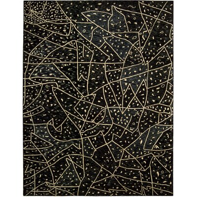 Kalahari Hand Tufted Black Area Rug by Nourison