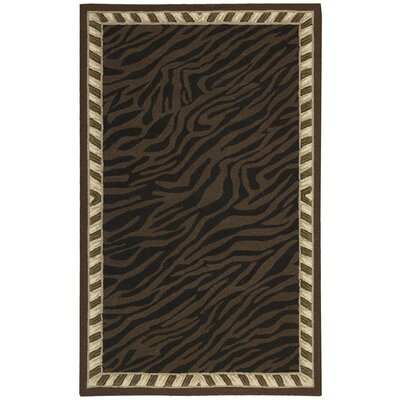 Bijou Hand Hooked Brown Area Rug by Nourison